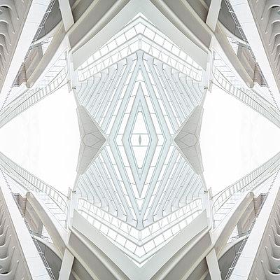 Abstract kaleidoscope pattern Liège-Guillemins station in Liège - p401m2207495 by Frank Baquet