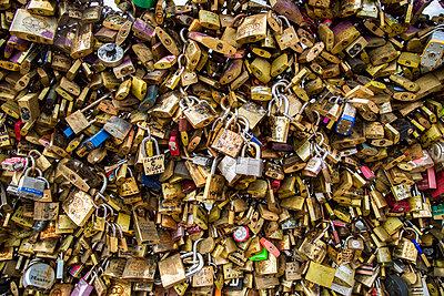Pont de L' amour, Paris, France - p924m1012450f by Franck Sauvaire