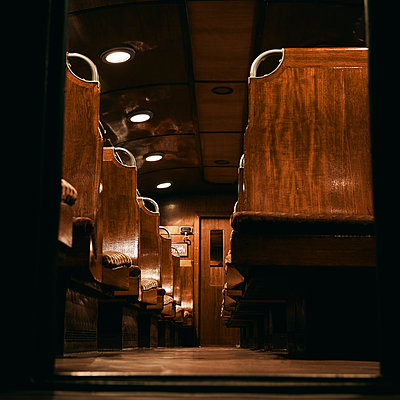 Old train cabin - p1540m2259022 by Marie Tercafs