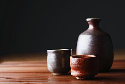 Japanese traditional pottery - p307m1106030f by Hideki Yoshihara