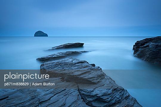 Atmospheric Trebarwith Strand on a moody evening - p871m838829 by Adam Burton