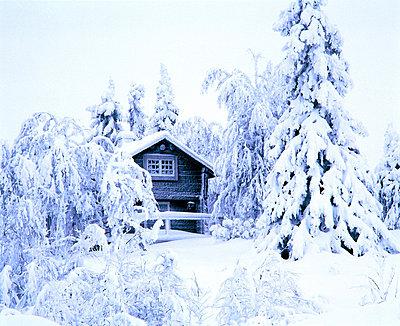 A little cottage in winter landscape - p3488522 by Jorgen Larsson