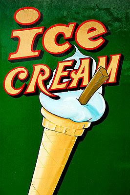 Ice Cream, Traditional Sign, Seaside, Brighton, England. - p442m967742 by Anthony Webb