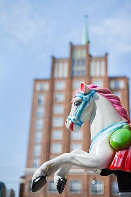 Carousel horse - p1293m1144121 by Manuela Dörr