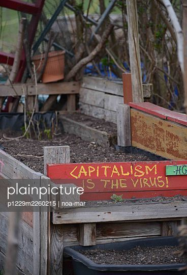 Sign, Capitalism is the virus - p1229m2260215 by noa-mar