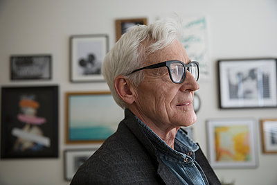 Thoughtful, forward thinking senior man - p1192m1529924 by Hero Images