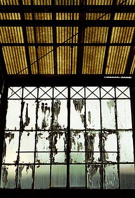 Window in industrial building - p927m668383 by Florence Delahaye