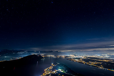 Lake Lucerne at night - p282m945960 by Holger Salach