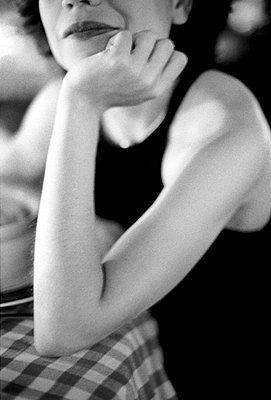 Woman thinking - p8700016 by Gilles Rigoulet