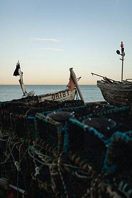 Fishing boats - p1477m2038935 by rainandsalt