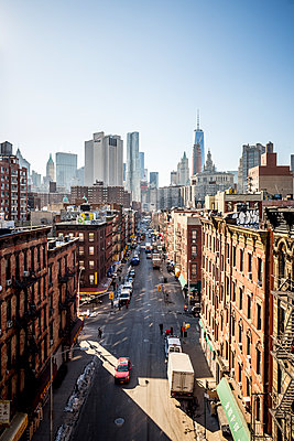 View of Chinatown in Manhattan in New York City, New York. - p343m1088991 by Mat Rick
