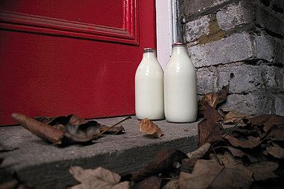Milk Bottles - p1072m829347 by Neville Mountford-Hoare