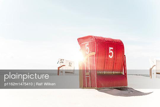 Strandkörbe am Borkumer Südstrand - p1162m1475410 von Ralf Wilken
