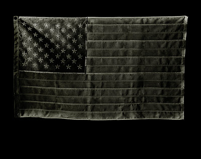 United States Flag- Black - p394m1119909 by Stephen Webster