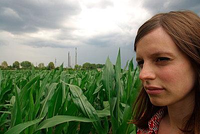 Frau im Maisfeld - p2600193 von Frank Dan Hofacker
