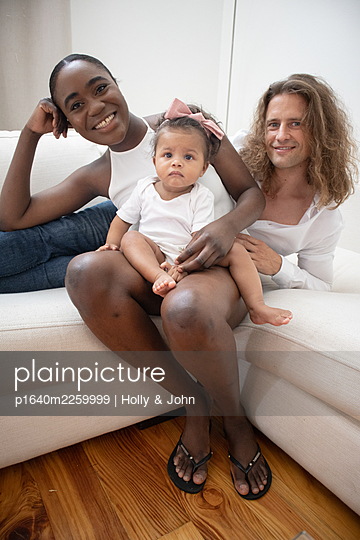 Multi ethnic family with toddler girl - p1640m2259999 by Holly & John
