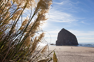 Haystack Rock at Cannon Beach - p712m1466301 by Jana Kay