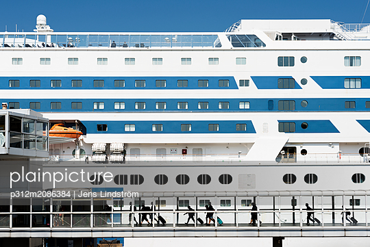 People on large cruise ship - p312m2086384 by Jens Lindström
