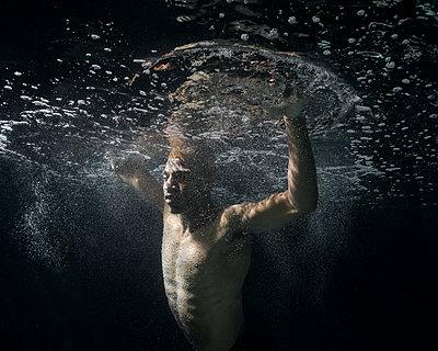 Underwater ballet dancer - p1554m2158948 by Tina Gutierrez