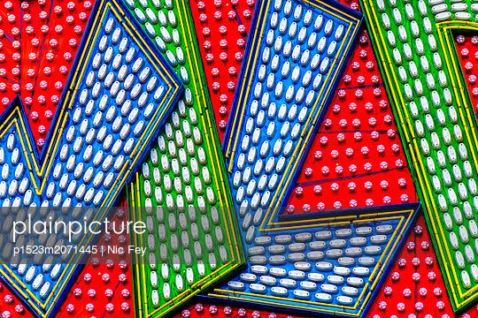 Funfair, Neon sign - p1523m2071445 by Nic Fey