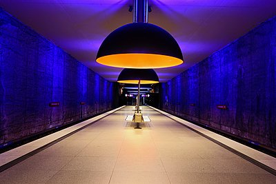 Metro station in Munich - p1399m1442189 by Daniel Hischer