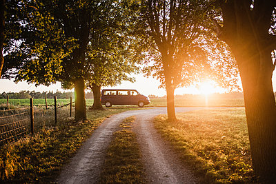 Dirt track at sunset - p312m2191205 by Anna Johnsson