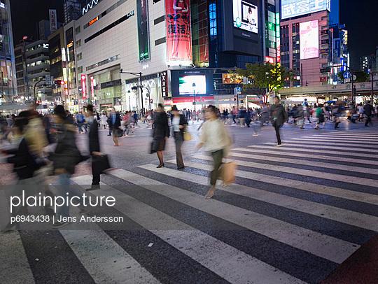 Busy Crosswalk in Tokyo - p6943438 by Jens Andersson