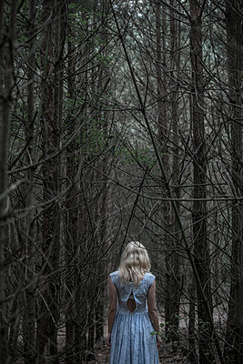 Woman in the forest - p427m944790 by R. Mohr