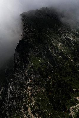 Massif de la Chartreuse in the fog - p910m1159374 by Philippe Lesprit