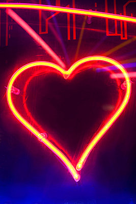 Neon heart sign - p300m874060f by Carlos Hernandez