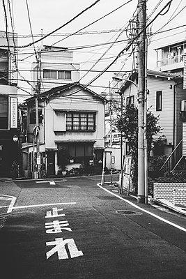Side street in Tokyo - p1126m1200760 by Tina Sturzenegger