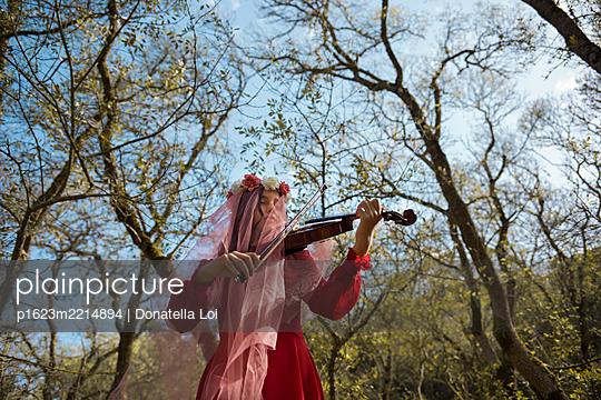 Fee mit Geige - p1623m2214894 von Donatella Loi
