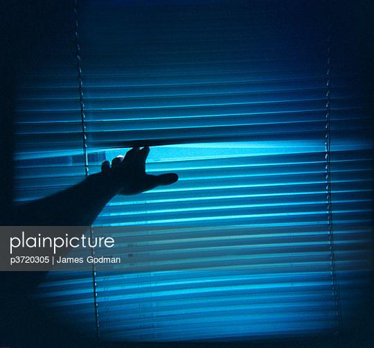 Man's arm parts window blinds - p3720305 by James Godman
