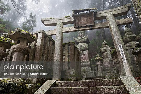 Buddhist cemetery of Oku-no-in, Koyasan (Koya-san), Kansai, Japan, Asia - p871m1048057 by Stuart Black