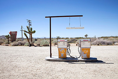 Petrol station in the desert - p8560116 by Pierre Baelen