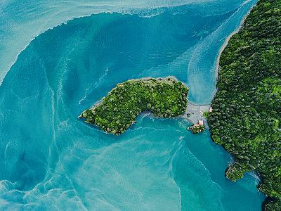 Alaska, Aerial view, Glacier river - p1455m2204764 by Ingmar Wein