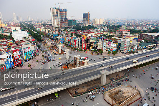 Aerial cityscape of My Dinh, Hanoi, Vietnam, Southeast Asia - p934m1071184 by Francois Carlet-Soulages