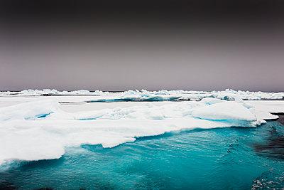 Norway, Pack ice in Svalbard - p1256m2099731 by Sandra Jordan