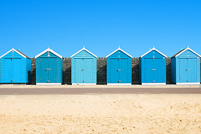 Blue Beach Huts - p1280m2008538 by Dave Wall
