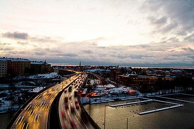 Traffic in winter Stockholm Sweden - p31223084f by Plattform