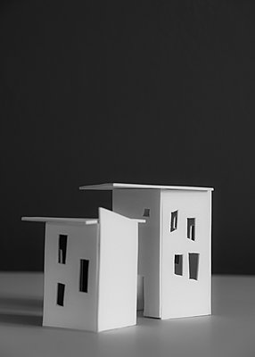 City planning, two models, new buildings - p758m2183888 by L. Ajtay