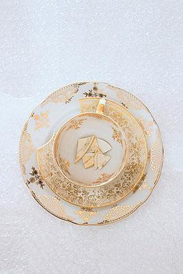 Broken plates - p676m770043 by Rupert Warren
