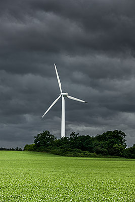 Windrad im Feld - p248m1462650 von BY