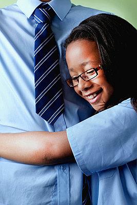 Schoolgirl hugging brother - p924m674348f by Gary John Norman