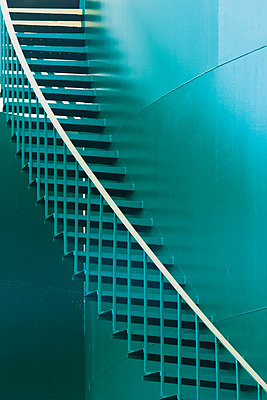 Green staircase on storage tank - p924m805794f by Ditto