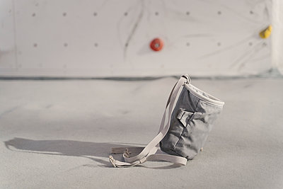Chalk bag in a climbing gym - p300m2169871 by Hernandez and Sorokina