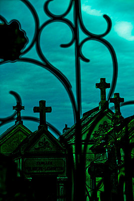 Graveyard at night - p8620060 by Michel Gile