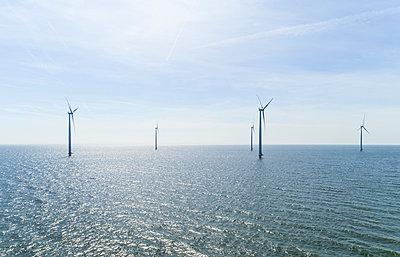 Offshore wind farm, Urk, Flevoland, Netherlands - p429m2019466 by Mischa Keijser