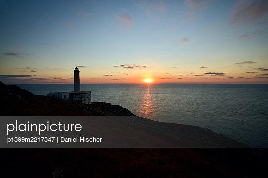 Italy, Lighthouse at Cape Palascia - p1399m2217347 by Daniel Hischer