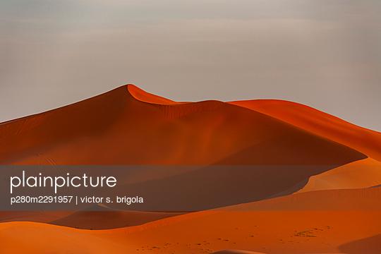 Sahara Sand Dunes - p280m2291957 by victor s. brigola